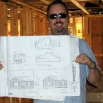 Blueprints for the house showing exterior elevations